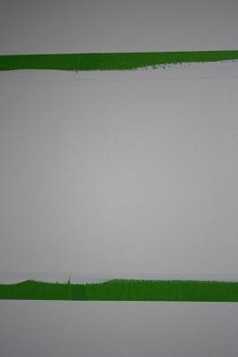 Прокраска края полос на стене